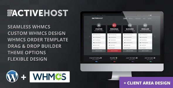Active Host v2.0.1 – WordPress + WHMCS Hosting