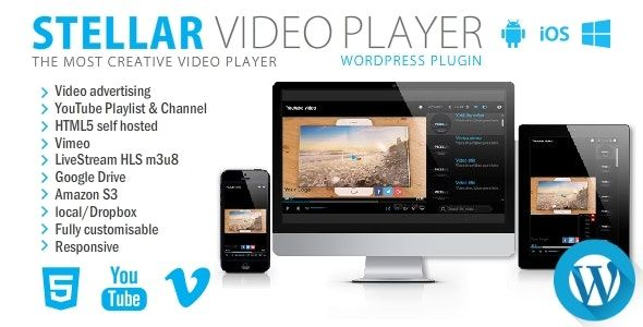 Stellar Video Player v2.1 – WordPress视频播放器插件