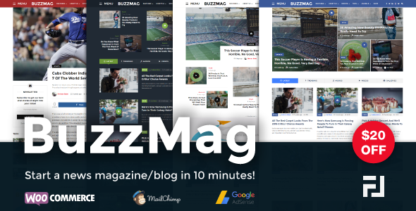 BuzzMag v1.0 – Viral News WordPress Magazine/Blog Theme