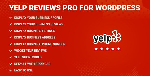Yelp Reviews Pro for WordPress v1.9 – Yelp评价插件