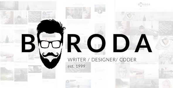 Boroda v1.5.0 – Personal Blog WordPress Theme