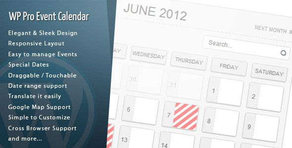 WordPress Pro Event Calendar v2.9.5