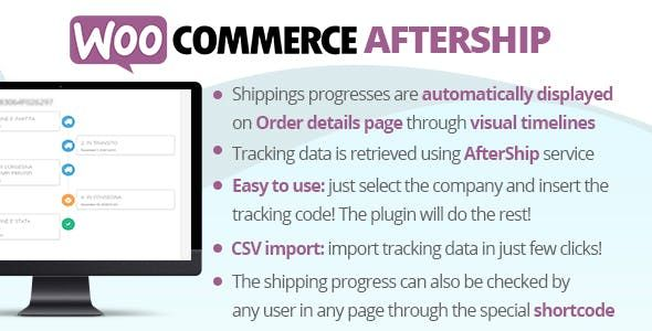 WooCommerce AfterShip v6.2 – 配送跟踪
