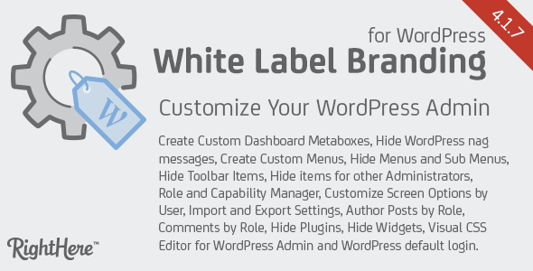 White Label Branding for WordPress v4.1.7.7615