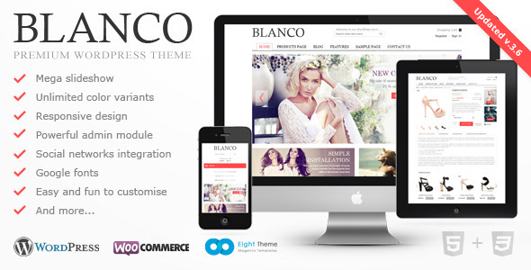 Blanco v3.6 – Responsive WordPress Woo/E-Commerce Theme