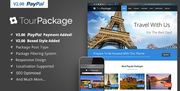 Tour Package v2.06 – WordPress Travel/Tour Theme