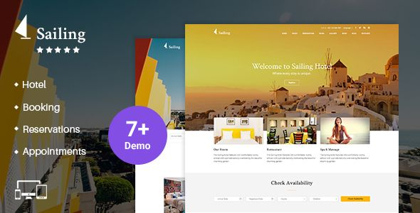 Sailing v1.9.9 – Hotel WordPress Theme