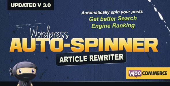 WordPress Auto Spinner v3.7.3 – 文章重写插件