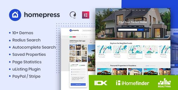 HomePress v1.1.9 – 房地产WordPress主题