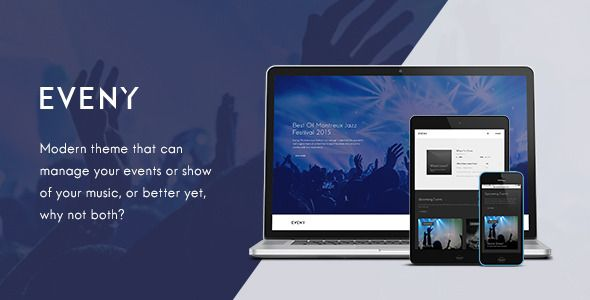 Eveny v1.4.3 – Events, Music & Gallery WordPress Theme