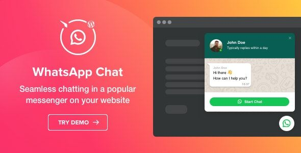 WhatsApp Chat v1.2.0 – WhatsApp WordPress 聊天插件