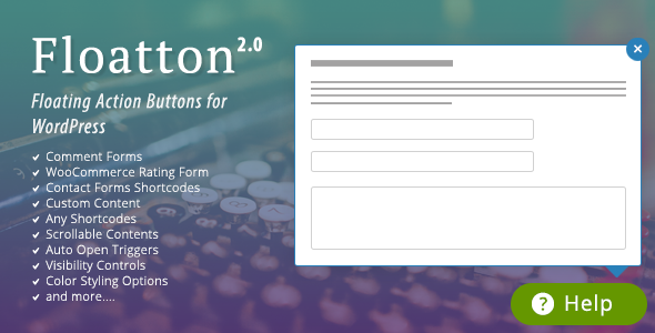 Floatton v2.0 – WordPress Floating Action Button with Pop-up
