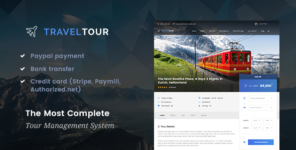 Travel Tour 2.0.0 – Travel & Tour Booking Management System