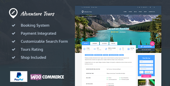 Adventure Tours v3.0.8 – WordPress Tour/Travel Theme