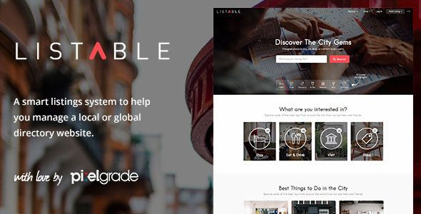 LISTABLE v1.8.7 – A Friendly Directory WordPress Theme