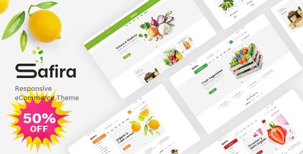 Safira v1.0.2 – 食品/有机食物WooCommerce WordPress主题