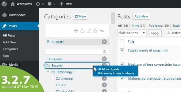 WordPress Real Category Management v3.2.14 – 定义分类顺序/树状视图