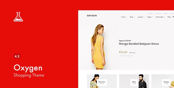 Oxygen v4.2 – WooCommerce WordPress Theme