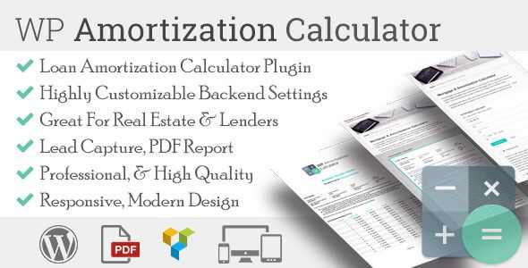 WP Amortization Calculator v1.5.2 – 摊销计算器