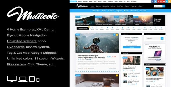Multicote v2.2 – 杂志和WooCommerce WordPress主题