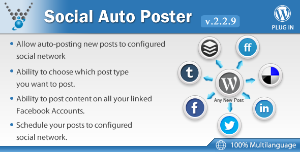 Social Auto Poster v2.2.9 – WordPress Plugin