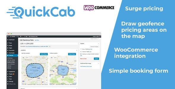 QuickCab v1.2.3 – WooCommerce Taxi Booking Plugin
