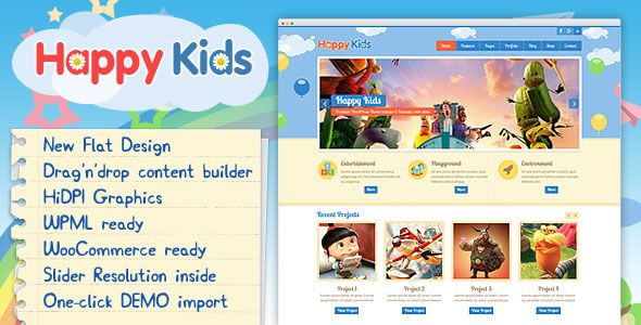 Happy Kids v3.4.2 – Children WordPress Theme