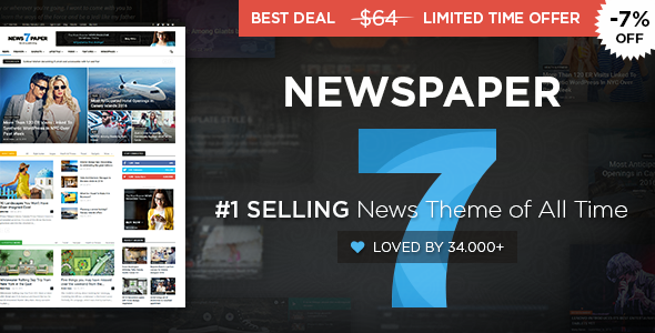 Newspaper v7.6.1 – WordPress News Theme