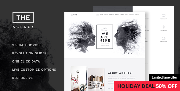 The Agency v1.3.5 – Creative One-Page Agency Theme