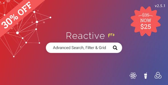 Reactive Pro v2.5.1 – Advanced search, filtering & grid