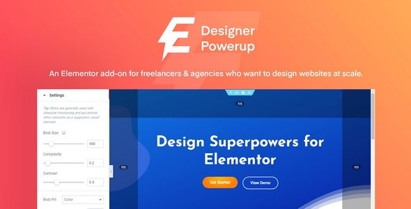Designer Powerup for Elementor v2.1.2 – 设计附加组件