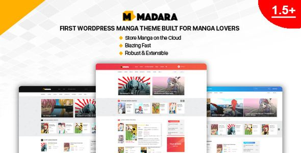 Madara v1.6.3 – WordPress漫画主题