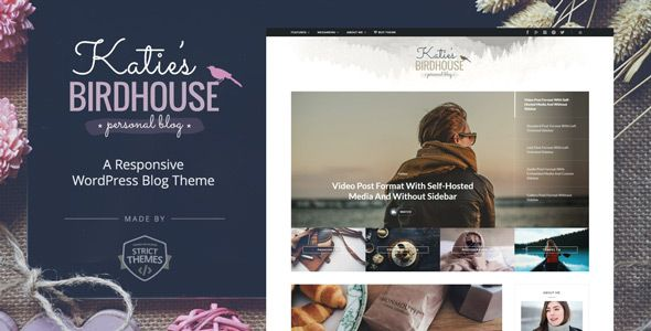 BirdHouse v1.0.2 – A Responsive WordPress Blog Theme