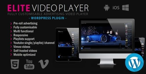 Elite Video Player v6.1 – WordPress视频播放器