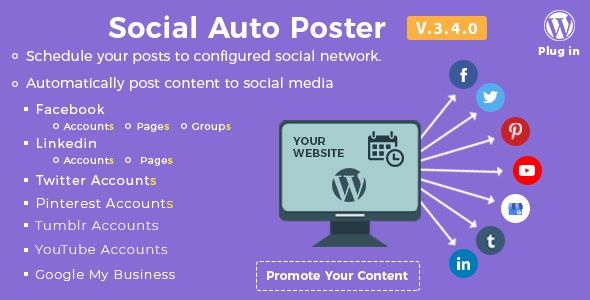 Social Auto Poster v3.9.0 - WordPress自动发布插件