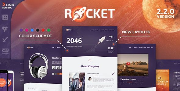 Rocket v2.2.0 - Creative Multipurpose WordPress Theme