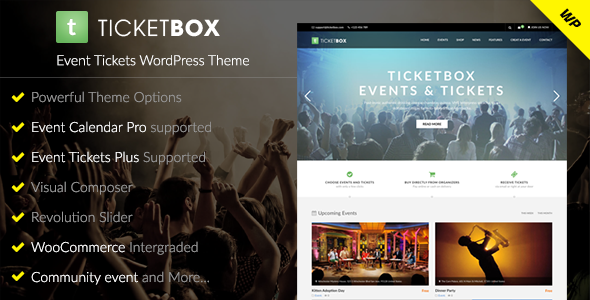 TicketBox v1.1.5 – Event Tickets WordPress Theme