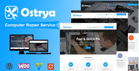 Ostrya v1.0.7 – Computer Repair Service WordPress Theme