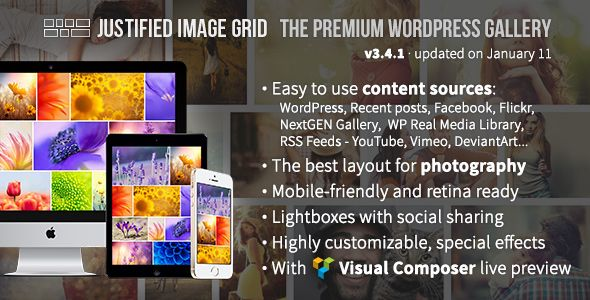 Justified Image Grid v3.4.1 – Premium WordPress Gallery