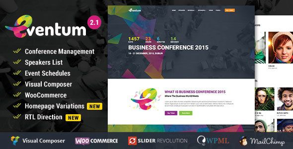 Eventum v2.1 – Conference & Event WordPress Theme