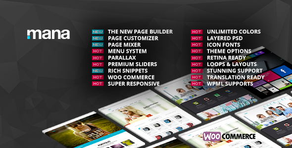 Mana v1.9.12 – Themeforest Responsive Multi-Purpose Theme