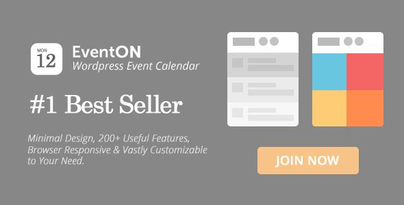 EventOn v2.5 – WordPress Event Calendar Plugin