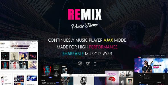 Remix v3.6.2 – Music-Band-Club-Party-Event WP Theme