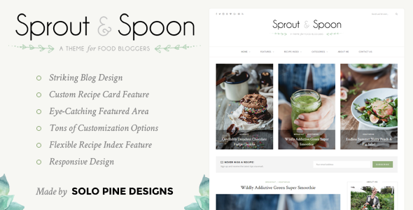Sprout & Spoon v1.1 – A WordPress Theme for Food Bloggers