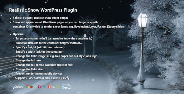 Realistic Snow v1.1 – WordPress Plugin