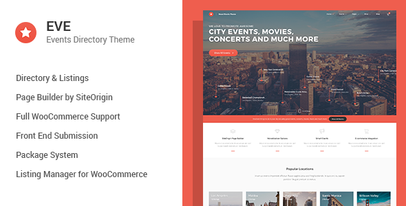 EVE v1.0.19 – Events Directory WordPress Theme