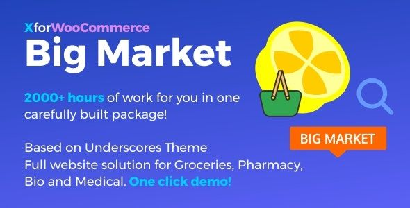 Big Market for WooCommerce and WordPress v1.4.2 – 大卖场网站完整解决方案!
