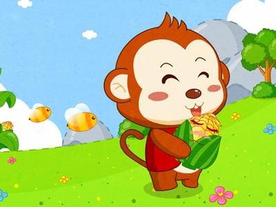 3 6岁幼儿故事小猴子摘玉米