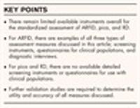 Assessment of avoidant restrictive food intake disorder, pica and rumination disorder: interview and questionnaire measures