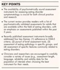 A systematic review of instruments for the assessment of eating disorders among adults